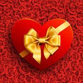 Heart shape gift — Stock Vector