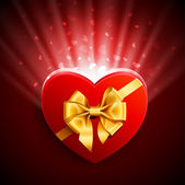 Heart shape gift — Stockvector