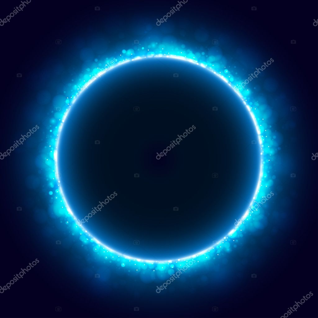 Space background with blue light — Stock Vector #4775709