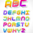 Stock Vector: 3d alphabet