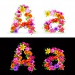 Royalty-Free Stock Vector Image: Flower font