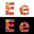 Stock Vector: Flower font