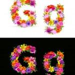 Flower font — Stock Vector