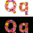 Flower font - Stock Vector