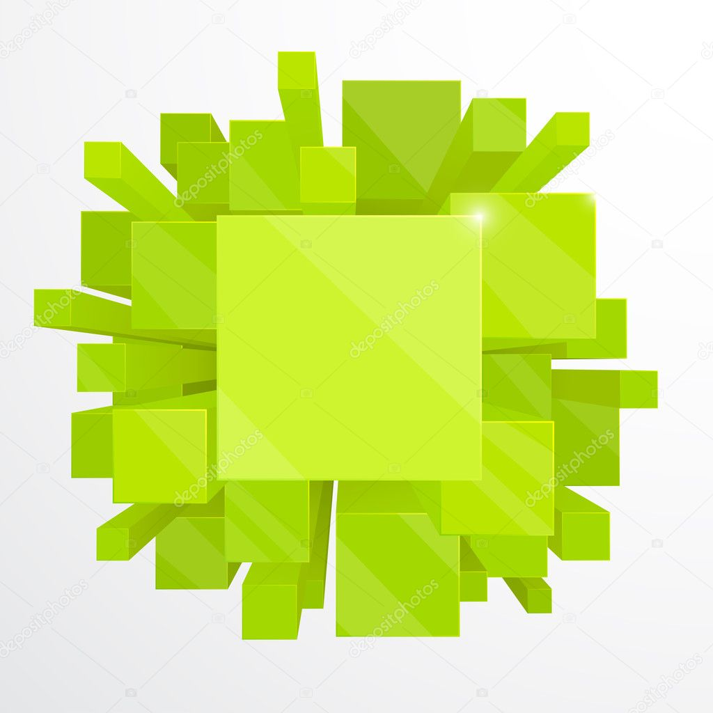 3d green abstract background - vector illustration — Stock Vector #4921598