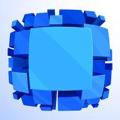 3d blå abstrakt bakgrund — Stockvektor