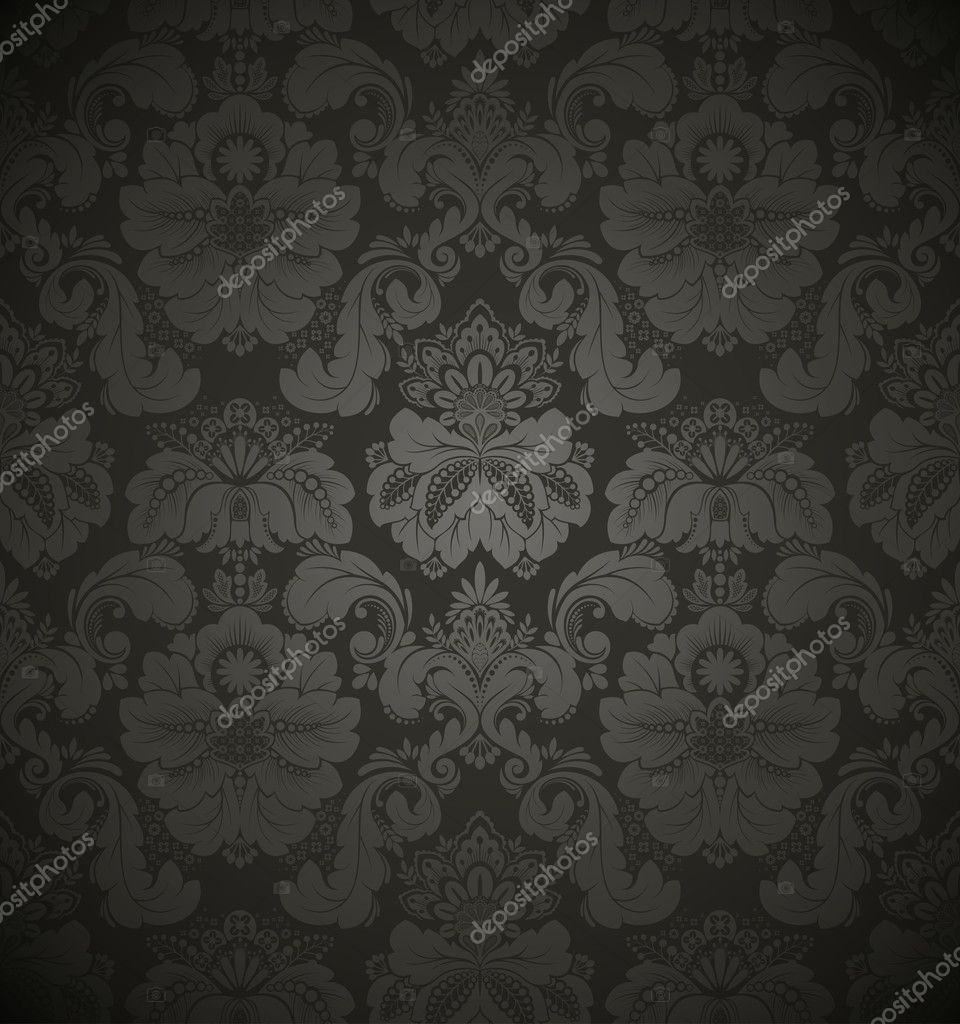 Damask seamless floral pattern. Vintage vector illustration. — Stock Vector #5284823