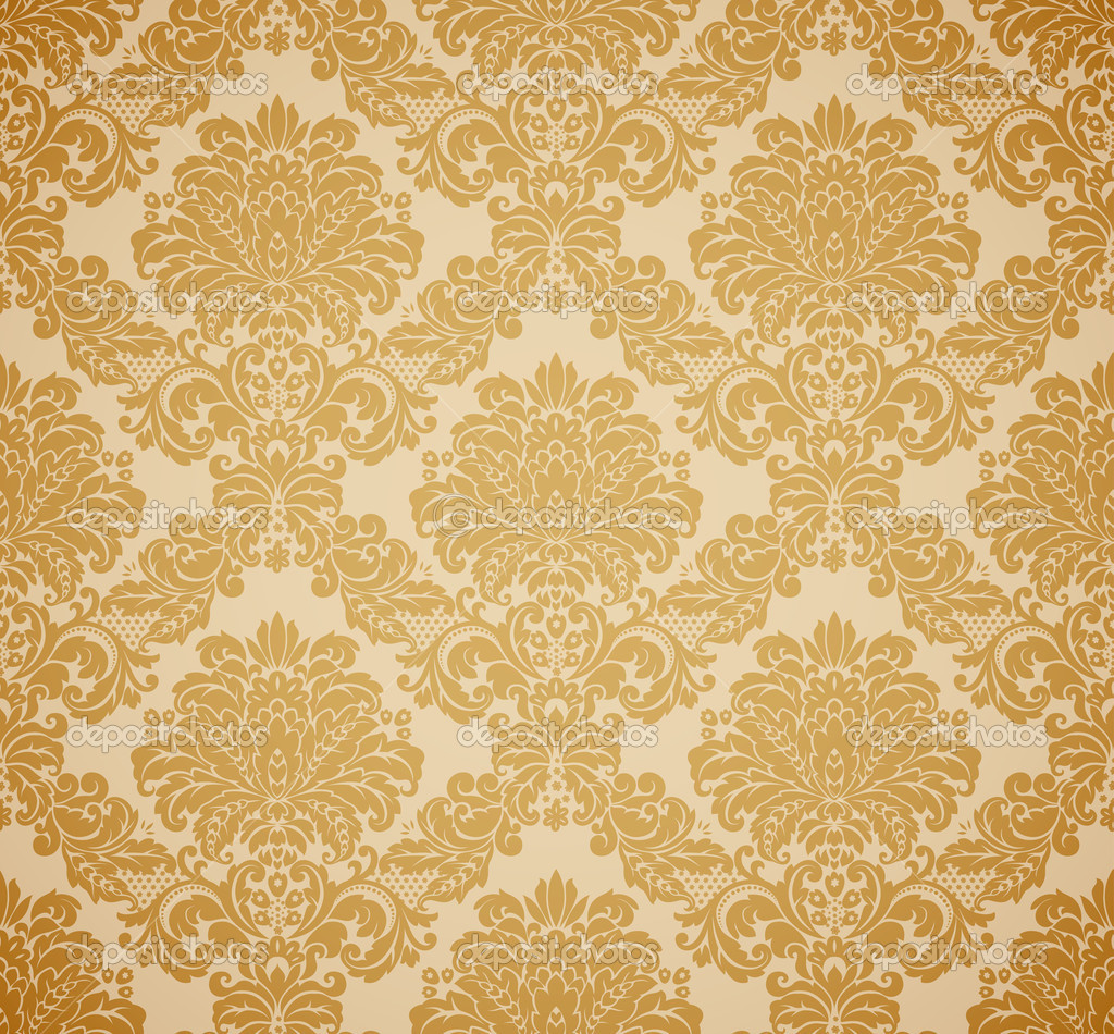 Damask seamless floral pattern. Vintage vector illustration. — Stock Vector #5285014
