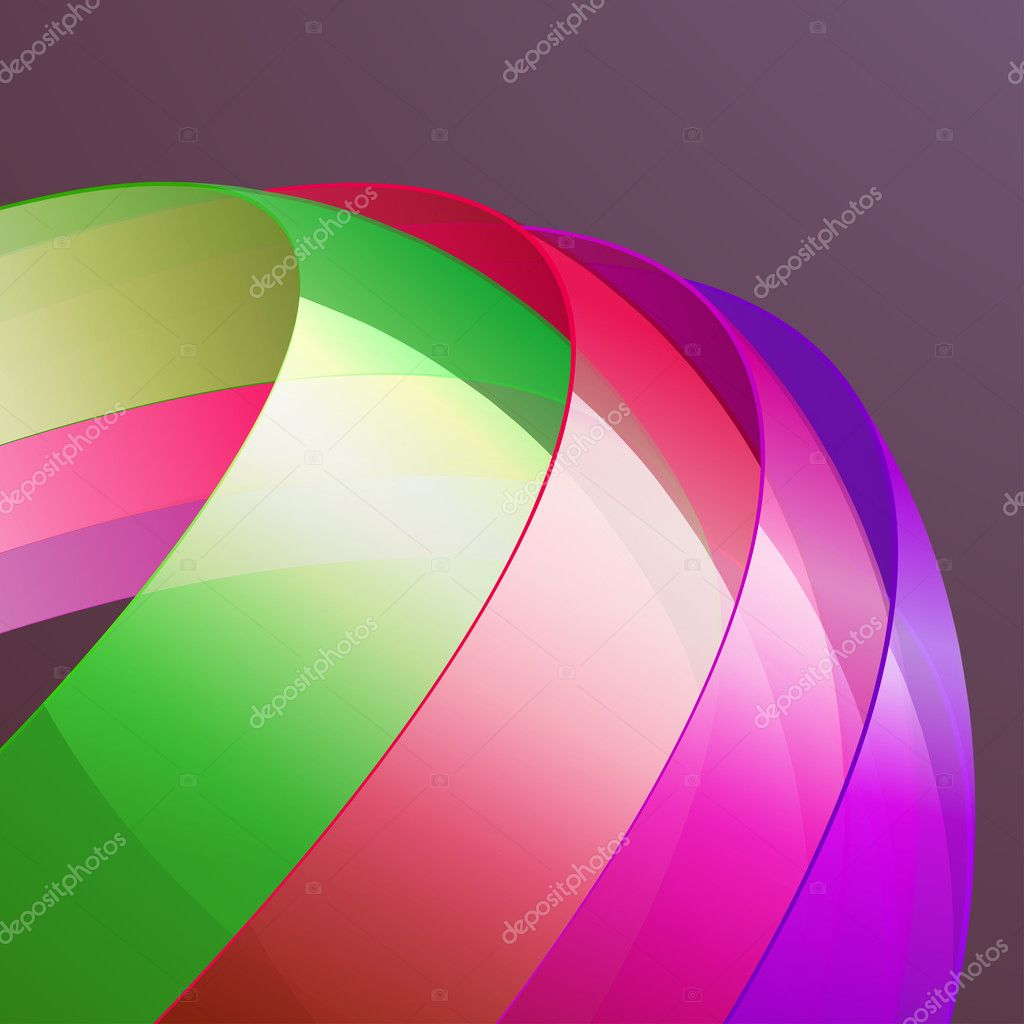 3d bright abstract background - vector illustration — Stock Vector #5285132