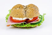 Freshly made sandwich — Stock Photo