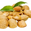 Almonds with kernel — Stock Photo
