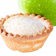 Stock Photo: Apple pie with apple