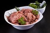 Bowl of minced pork — Stock Photo