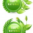 Natural products label — Stock Vector