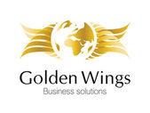 Golden Business Logo — Stock Vector