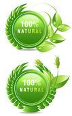 Rótulo de produtos naturais — Vetorial Stock