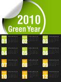 2010 calendar — Stock Vector