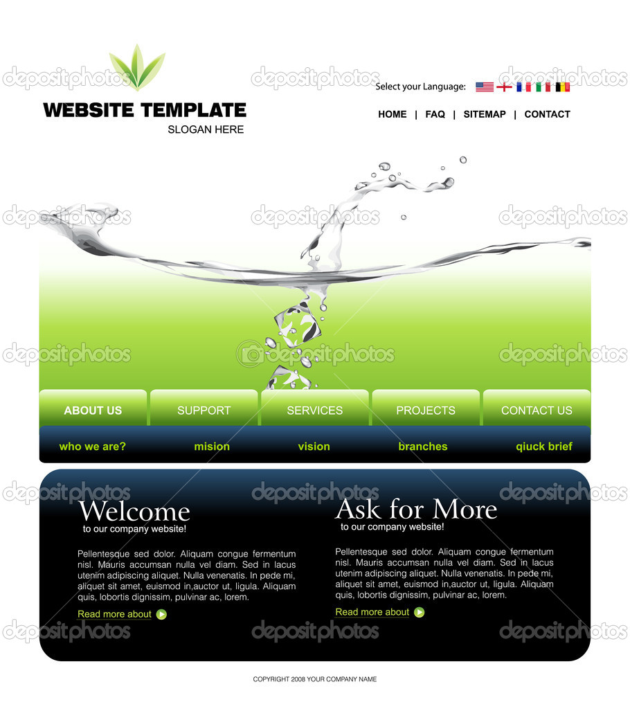how to change template on google sites - website template stock vector creativeapril 4009774