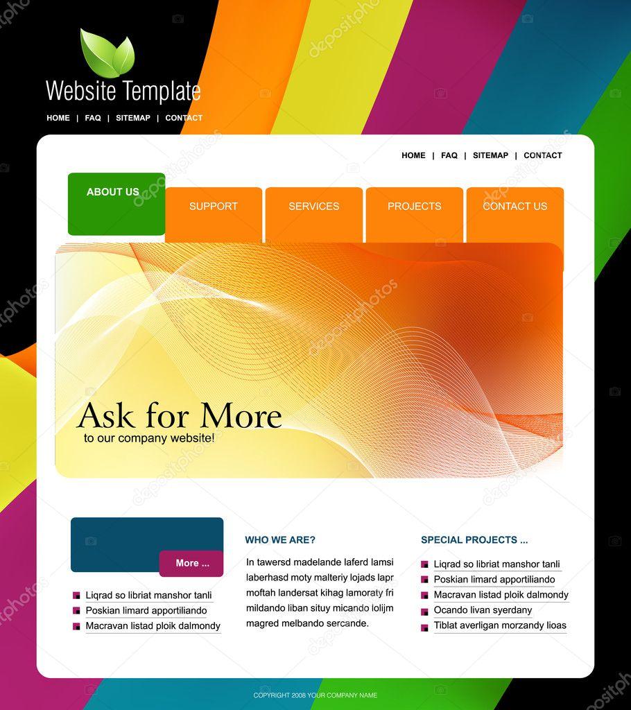 website template stock vector creativeapril 4011061. Black Bedroom Furniture Sets. Home Design Ideas