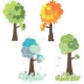 Mosaic trees — Stock Vector