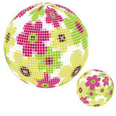 Mosaic ball — Stock Vector