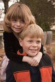 Broer en zus — Stockfoto