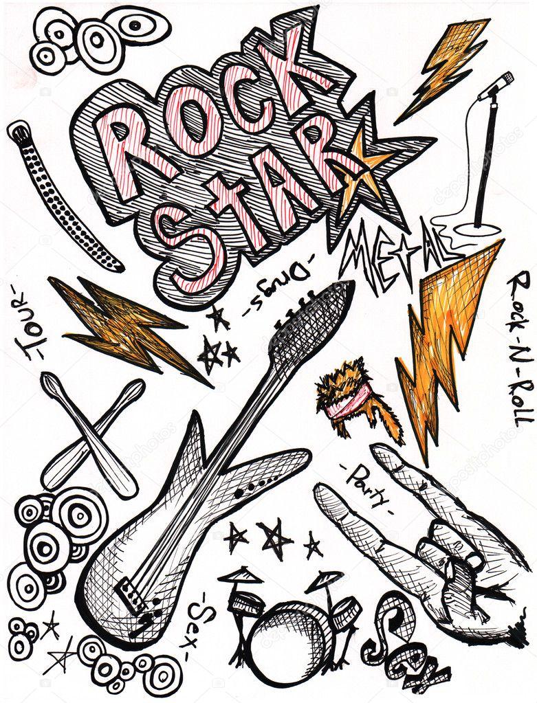 摇滚乐器矢量图