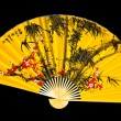 Japanese fan on a black background — Stock Photo #5130167