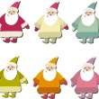 Royalty-Free Stock Vector Image: Santa set