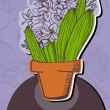 Stock Vector: Hyacinth
