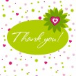 Thank you card assorted — Stock Vector