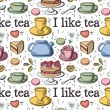 I like tea - Stock Vector