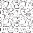 Kitchen pattern - Stock Vector