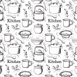 Stock Vector: Kitchen pattern