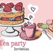 Stock Vector: Teparty invitation
