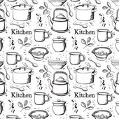 Kitchen pattern — Stock Vector