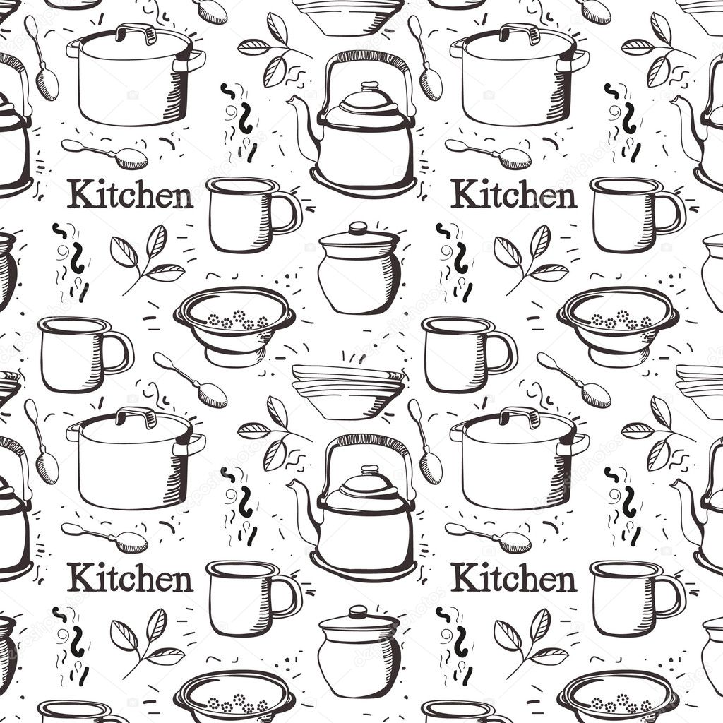 Kitchen pattern  — Stock Vector #4261238