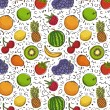 Stock Vector: Fruits pattern
