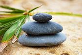 Black spa stones — Stock Photo