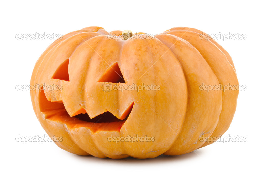 Isolated hlloween pumpkin — Stock Photo #3934521