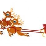 Santa Clause reindeer — Stock Vector #4319851