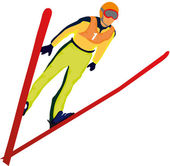Ski jumper — Stock Vector