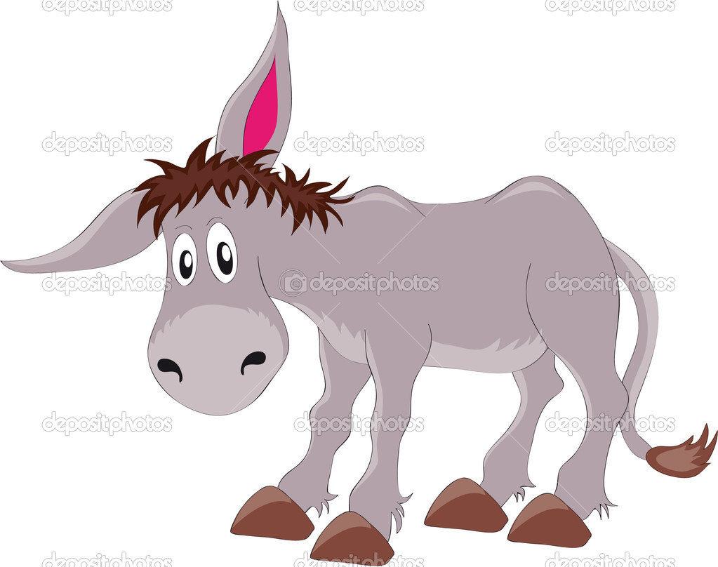 Vectors illustration shows a gray donkey — Stock Vector #4330133