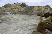 Vulcano Hot rocks on Vulcana — Stock Photo