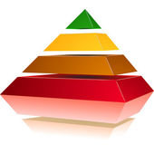 Pyramid with Colors — Stock Vector