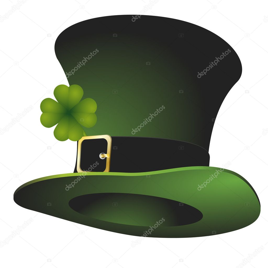 Illustration of a green St. Patrick's stovepipe hat  Stock Vector #5113539