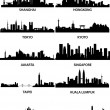 Royalty-Free Stock Imagen vectorial: Asian cities skylines