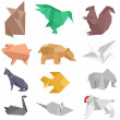 Royalty-Free Stock Vector Image: Origami Creatures