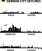 Alemania skylines — Vector de stock