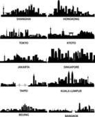Aziatische steden skylines — Stockvector